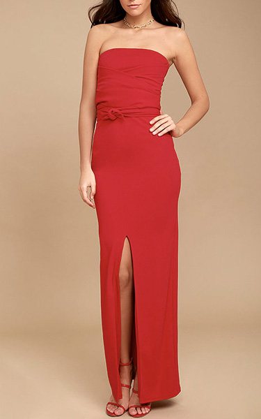 Own The Night Red Strapless Maxi Dress - Best Maxi Dress be0fdeda1