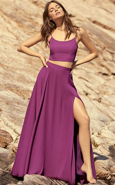 c56a15daf Thoughts Of You Magenta Two Piece Maxi Dress