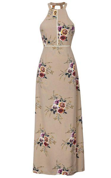 Cupshe Bright Precious Floral Halter Dress Best Maxi Dress