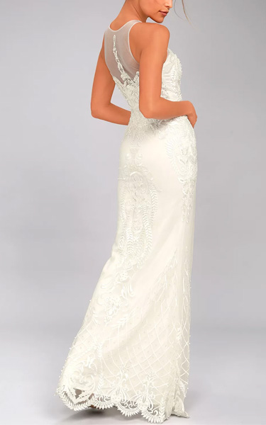 7514e7213bd Hold On To Love White Embroidered Maxi Dress