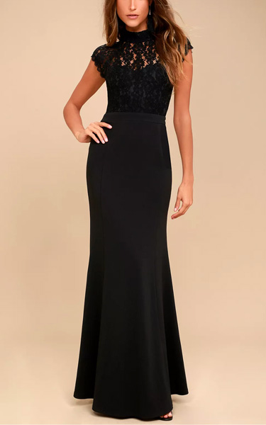 Crazy About You Black Backless Lace Maxi Dress Best Maxi Dress